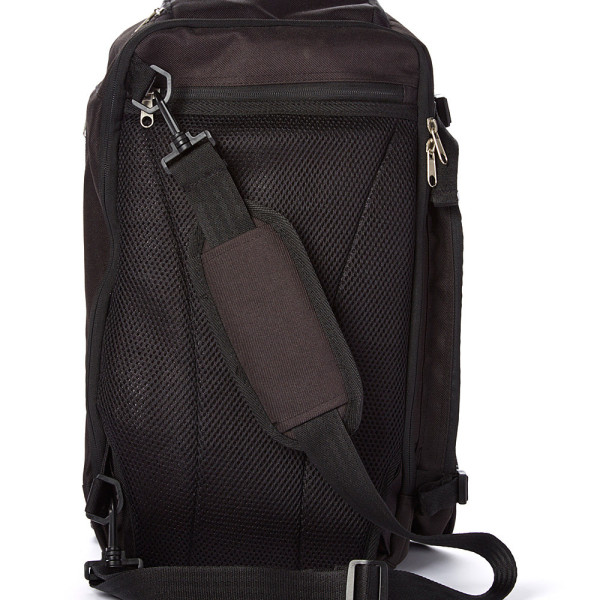 Jet Black Baby Sak Back View with strap